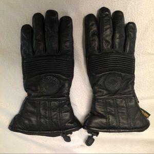 Harley Davidson Gore Tex Black Leather gloves.